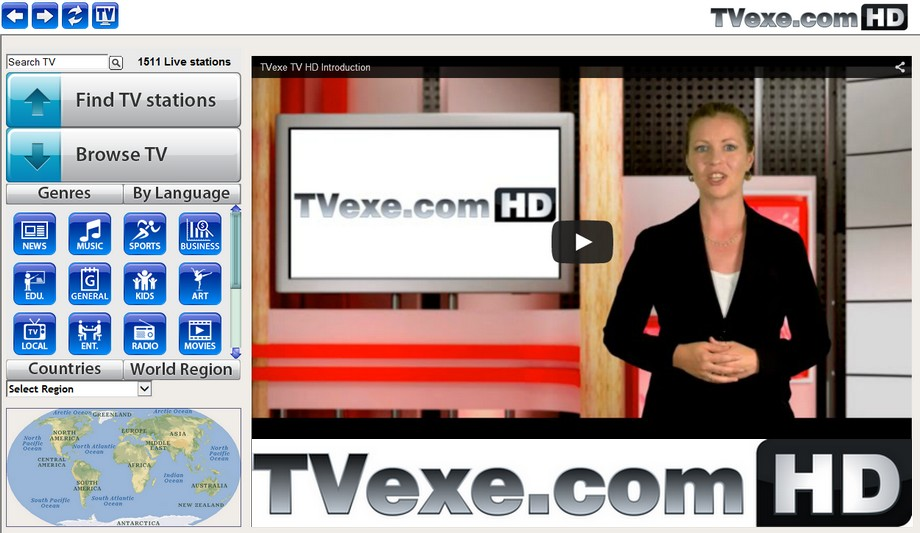 TVexe TV 4.0 Screenshot, Click to enlarge